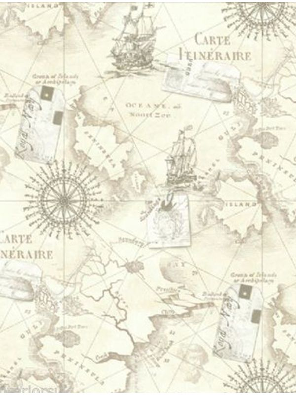 Neutral Navigator Map Wallpaper- Arthouse 622003 Neutral - copy 3d world map hd wallpaper