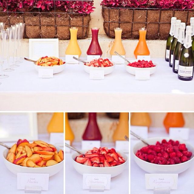 mimosa bar...idea for morning of wedding while getting ready