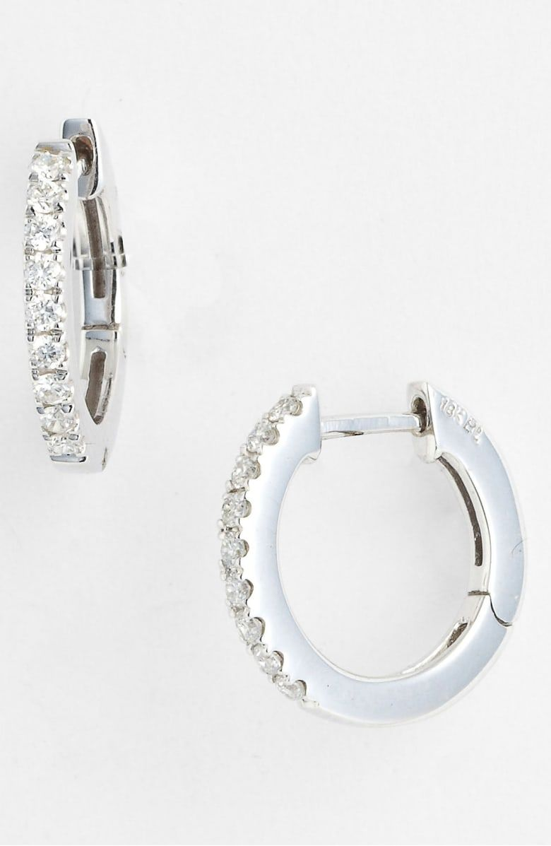 a6c035d6fa6e9 Free shipping and returns on Bony Levy Diamond Hoop Earrings ...
