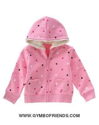 Gymboree - Wild One - Pink Polka Dot Fleece Hoodie