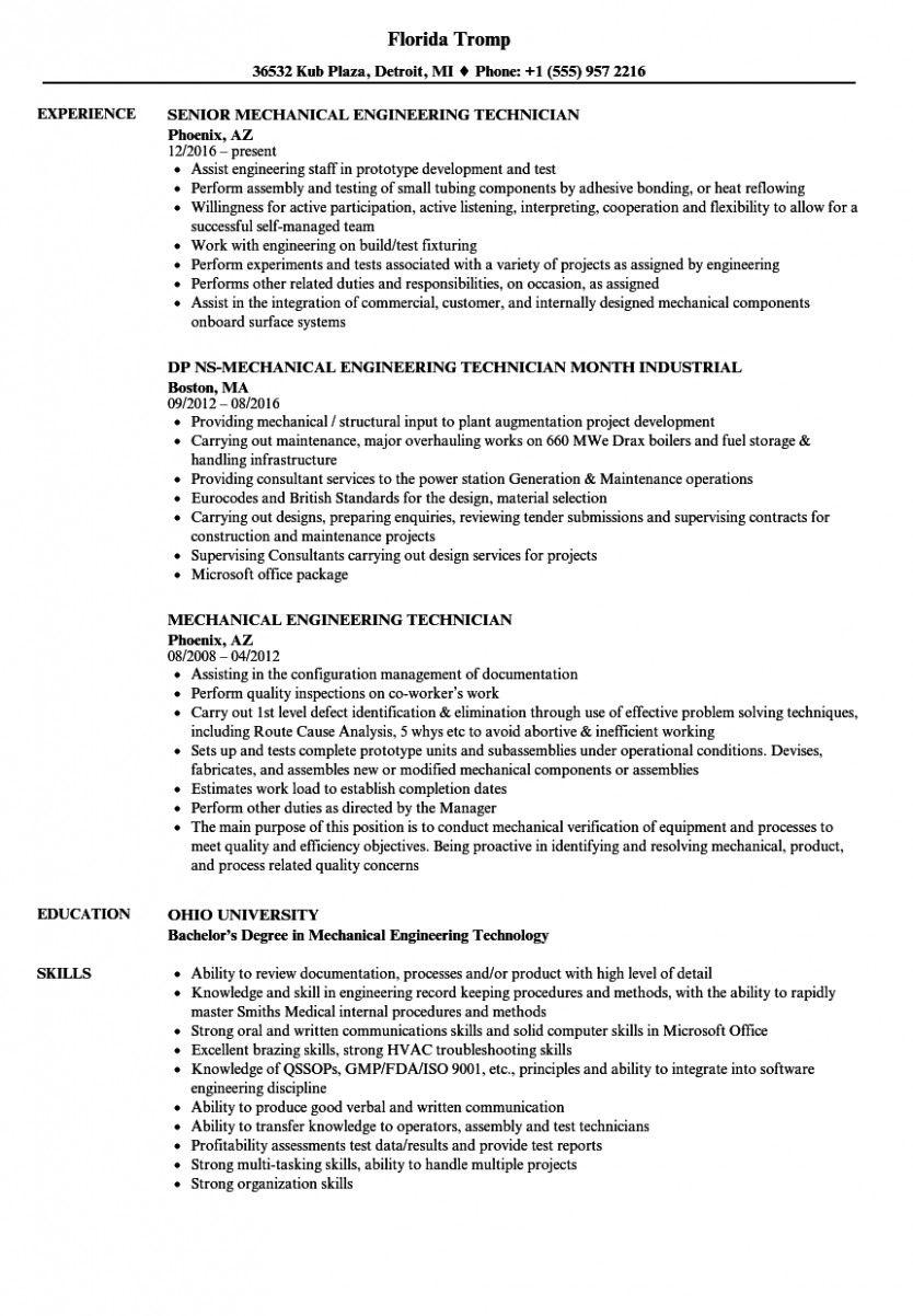 11 greatest resume for mechanical engineer 11 best resume