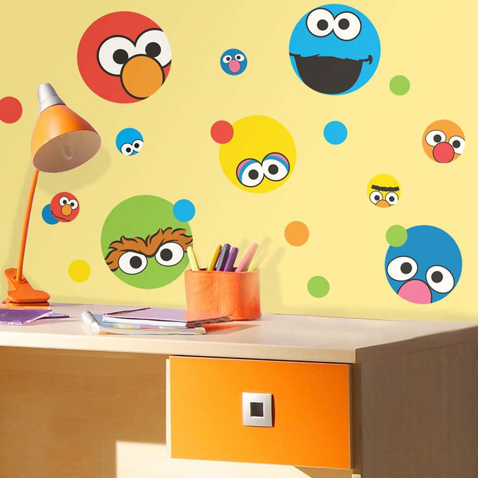 Perfect Sesame Street Wall Decals.