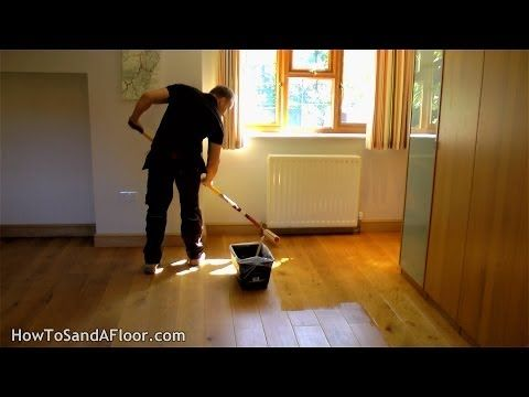 How To Refinish A Wood Floor Without Sanding Youtube Diy