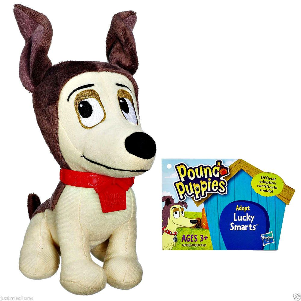 Hasbro Pound Puppie Lucky Smarts Cute Mini Brown Tan Soft Plush 6