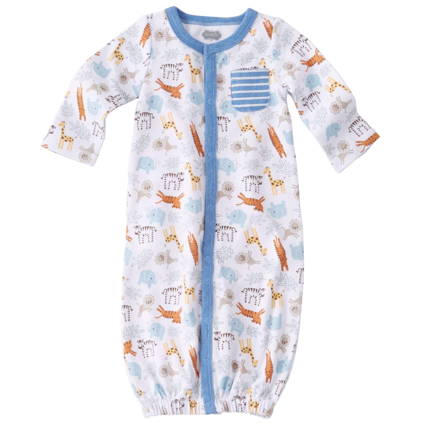 Mud Pie Baby Boy Christmas Green Sleep Gown Sack Plaid Tie Size 0-3 Months