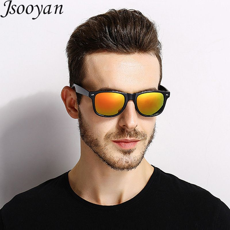 db666d774658 Jsooyan Polarized Sunglasses Men Fashion HD Night Vision Driving Goggles  Classic Retro Rivet Shades Glass Review