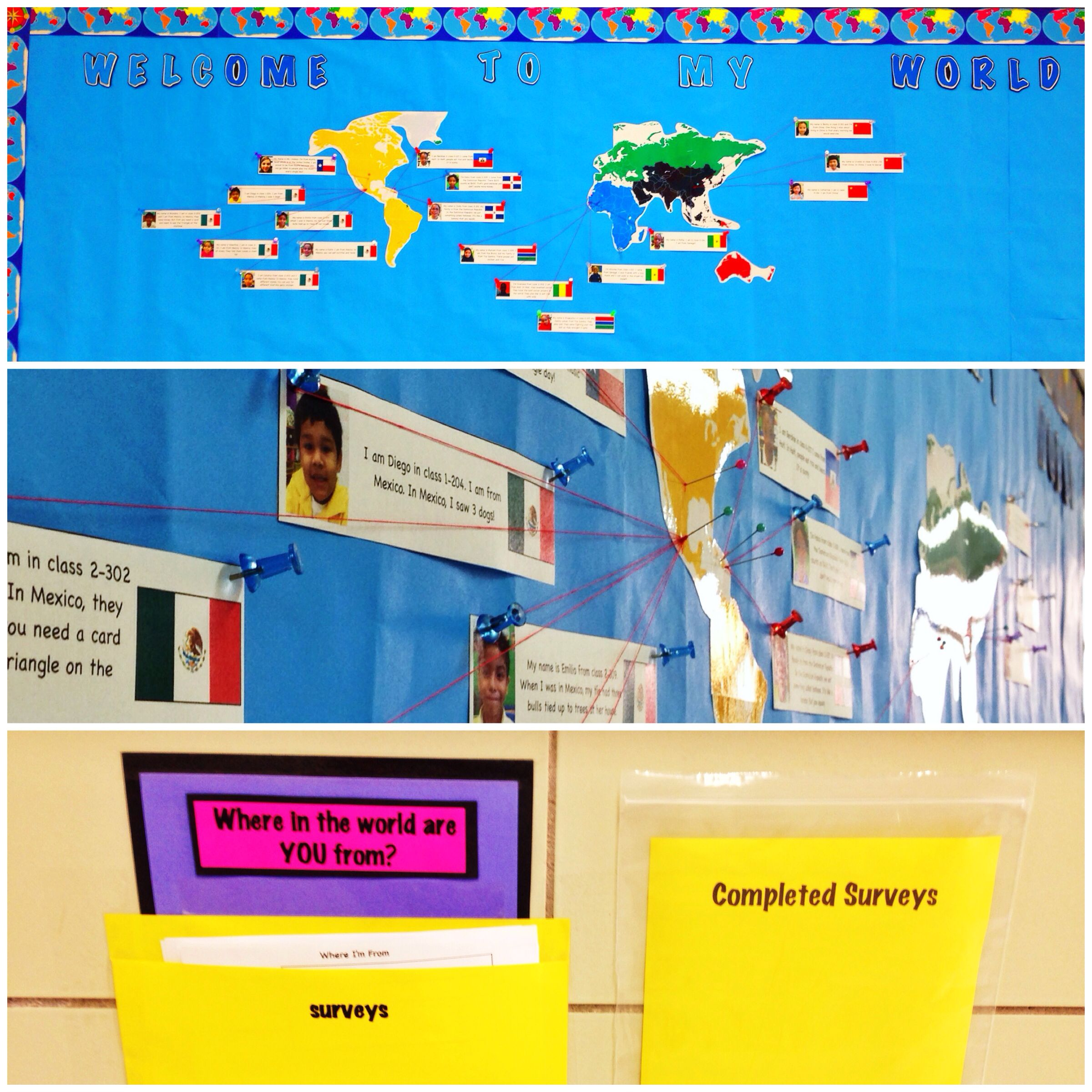Innovative Ideas In English Classroom ~ Esl bulletin board i love this idea of having students