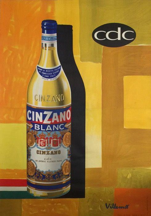 cinzano blanc : 1958 affiches anciennes de VILLEMOT Bernard   images ...