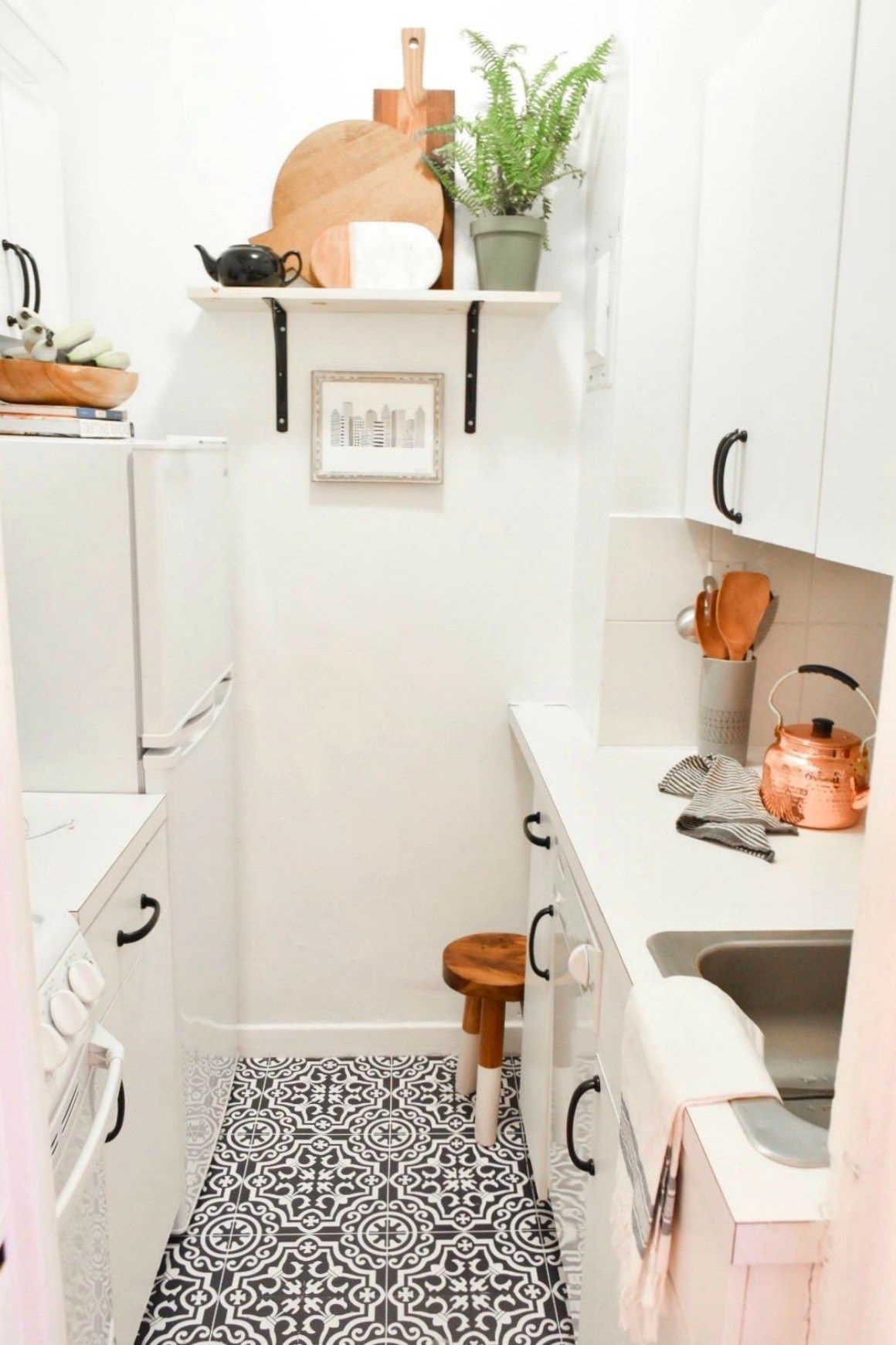Small Space Living Series- New York City Apartment with Crystal Ann Interiors - Nesting With Grace