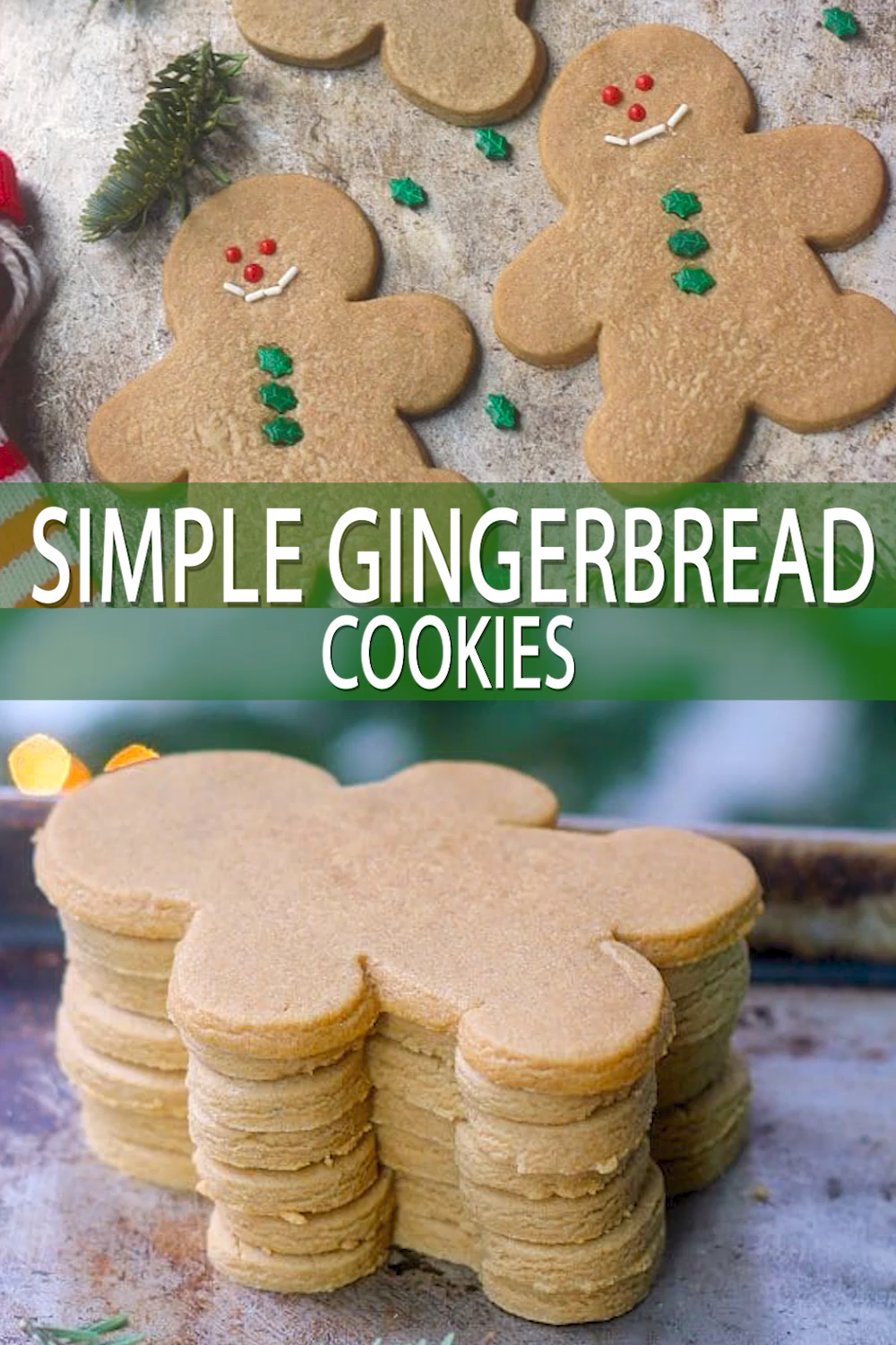 Easy Gingerbread Cookies without Molasses
