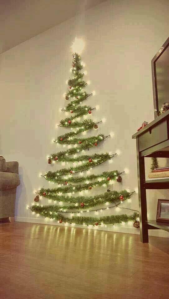 Arbol Navideño ahorra espacio -) plastica Pinterest Christmas - how to decorate a small christmas tree