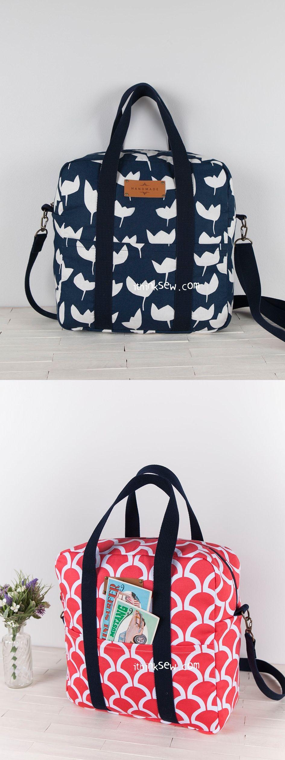 Esther Bag PDF Pattern - ithinksew.com | Handbag inspiration ...