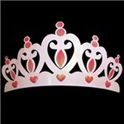 NEW GIRLS ROOM PINK JEWELLED CROWN WALL ART PLAQUE DIAMANTE METAL PICTURE SIGN