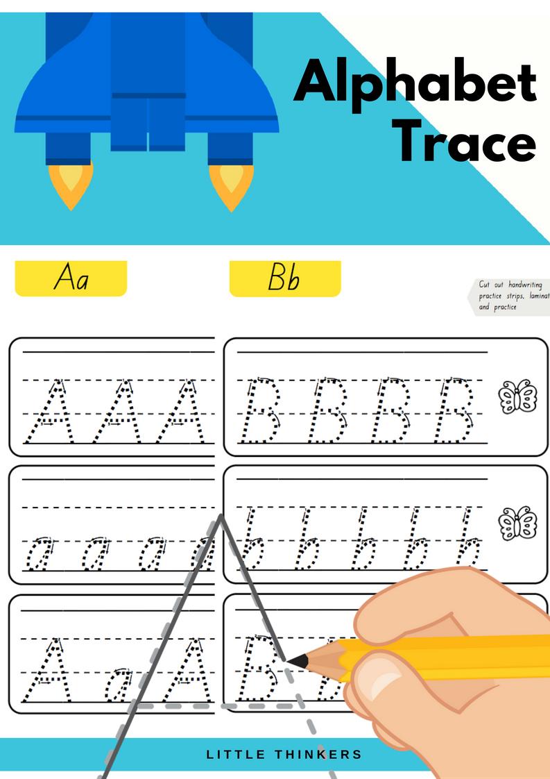 Queensland Beginners Font Handwriting Practice Alphabet Practice Tracing Cursive Letters [ 1122 x 793 Pixel ]
