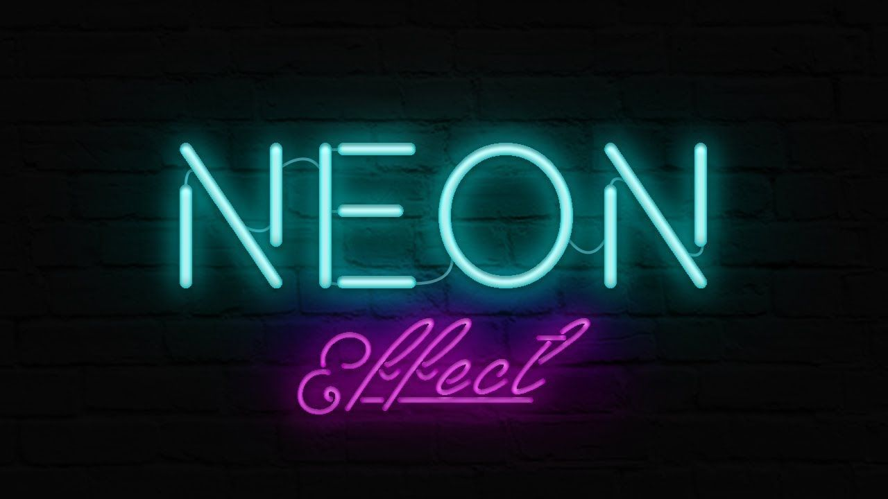 How to Create Neon Text Effect with Photoshop - Photoshop Text