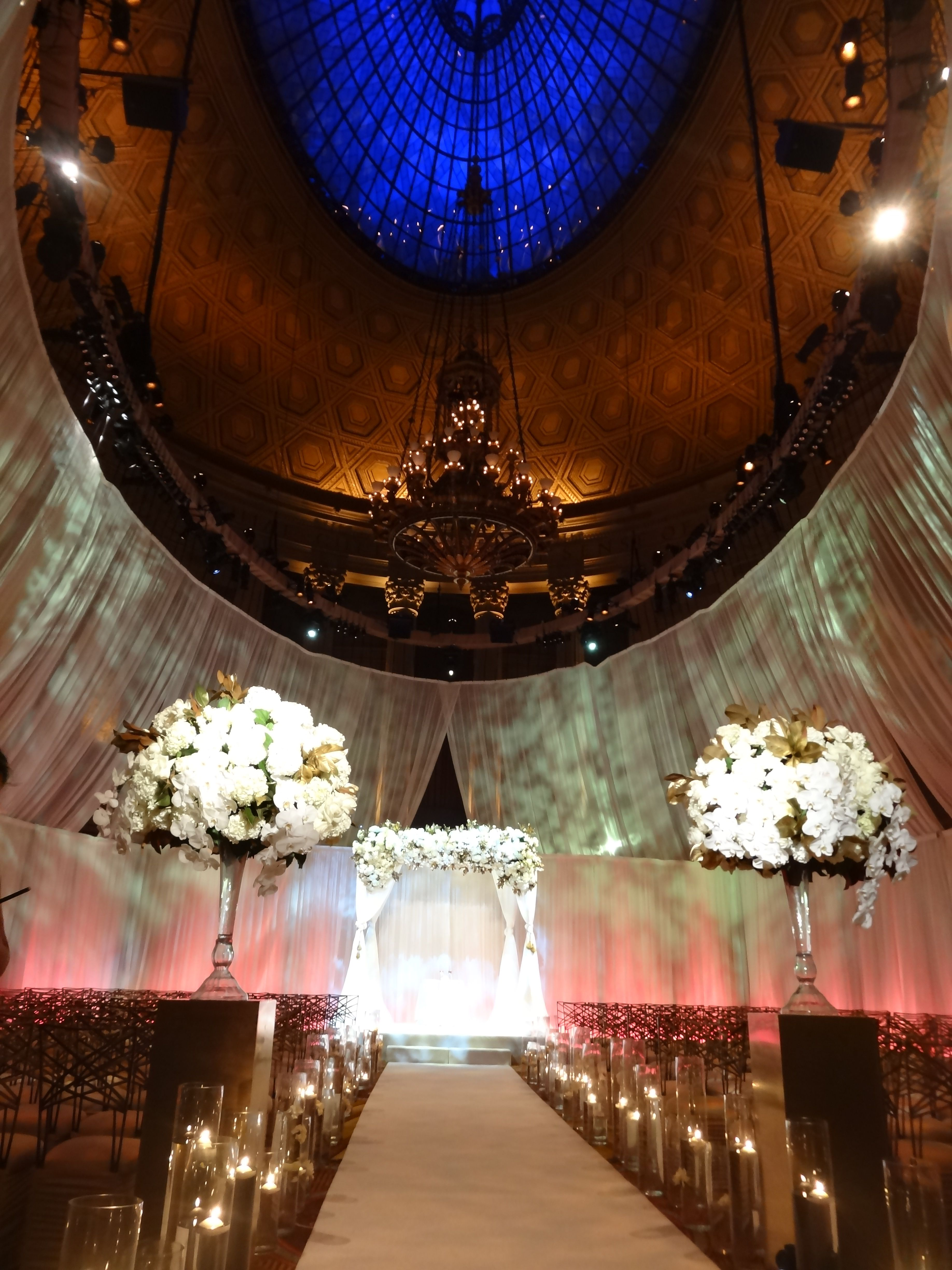 This is a beautiful NYC Chuppah wedding canopy for a Jewish wedding ceremony in landmark building & This is a beautiful NYC Chuppah wedding canopy for a Jewish ...