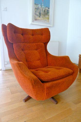 Vintage Parker Knoll Egg Swivelrock Chair Living Room Poltrona