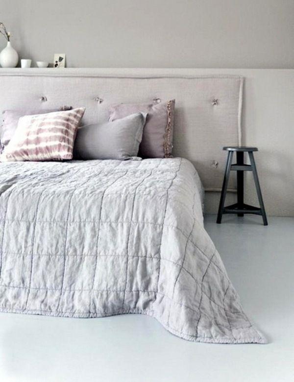 Schalfzimmer Gestaltung Idee Pastell Farben Lila Schlafzimmer