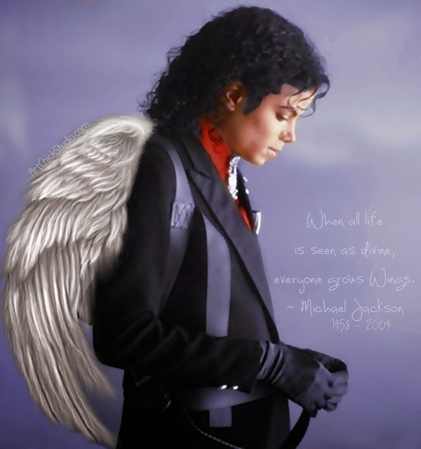Michael Jackson Angel - 5 Years Gone   Art Chick Studio