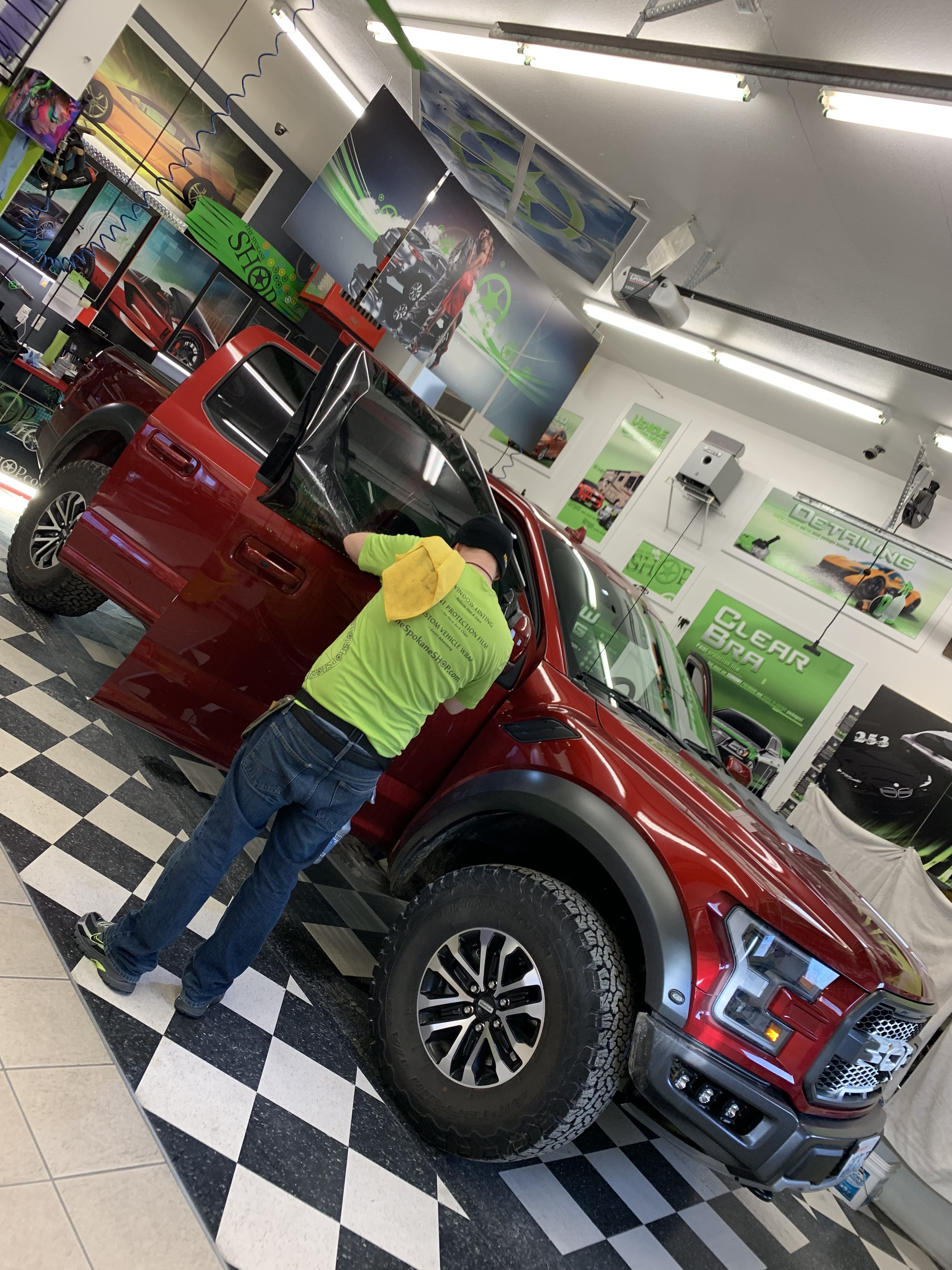 Nice Ford Raptor 2019 Getting A Full Tint Carbon Ceramic Film Windshield This Truck Looks Sick Nick Di Tinted Windows Commercial Window Tinting Clear Bra
