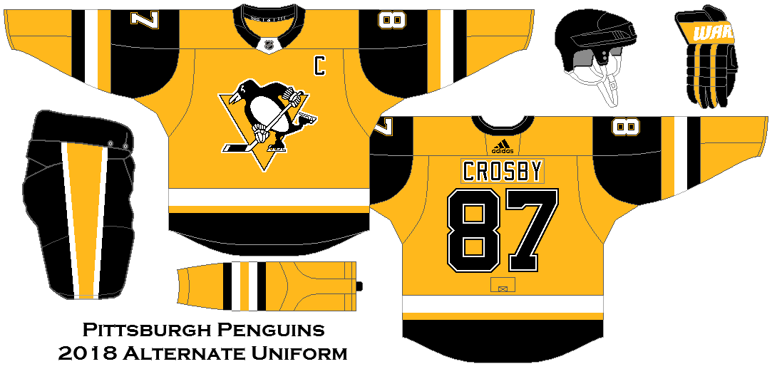 separation shoes 34d9f a2eaf 2018 NHL Alternate Uniform Concepts - Pittsburgh Penguins ...