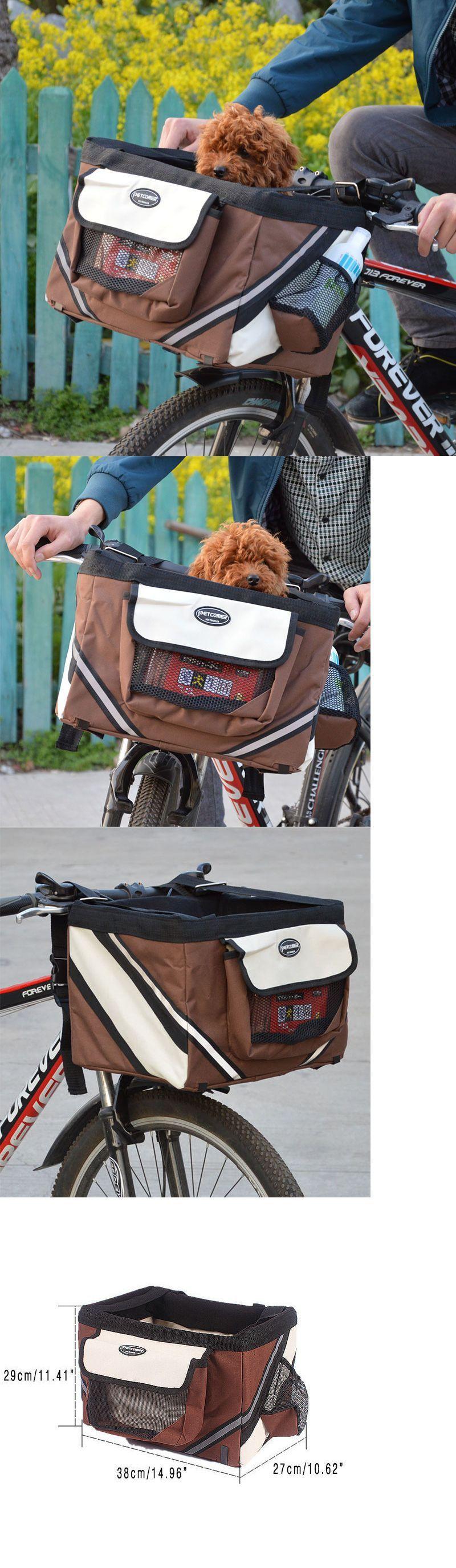 Bike baskets and trailers pet cat dog bike basket bag travel