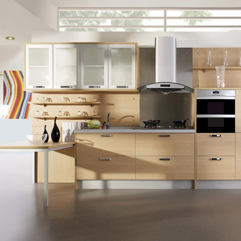 Bright Color Tone Modern Wooden Kitchen Cabinets For Storage Inspiration Modern Wooden Kitchen Designs Inspiration
