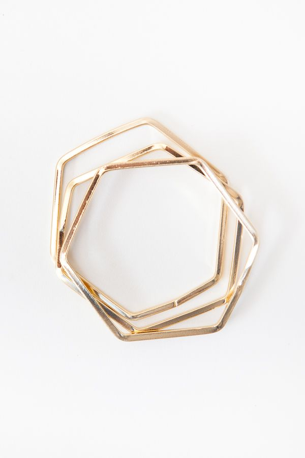 Bracelet Hexagon Simple Hexagon Bracelet