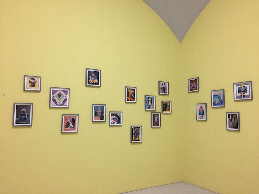 Elisabeth Wild Fantasias 2016 17 Collages Installation View Neue Galerie Kassel Documenta 14