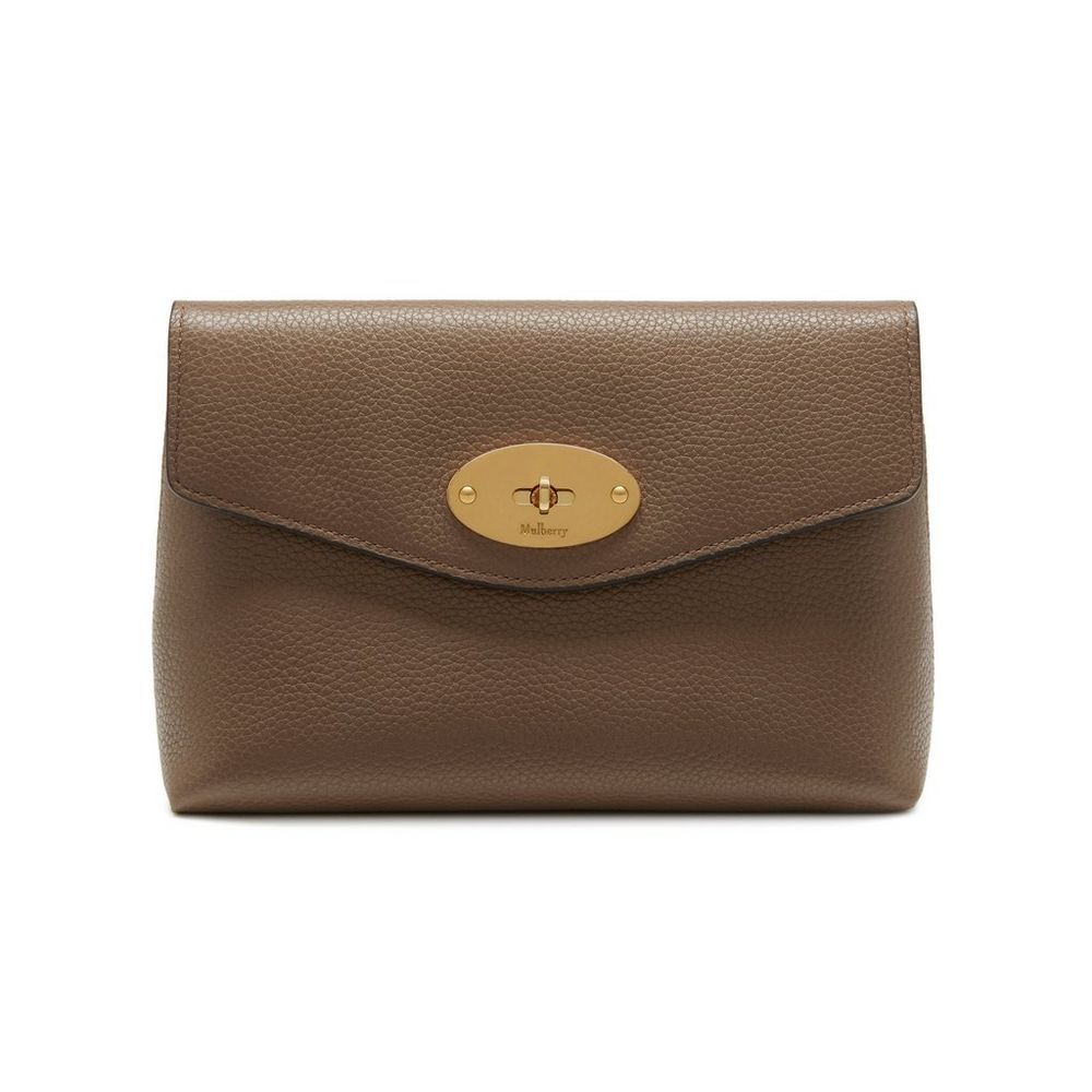 c6158fb3b43 Shop the Darley Cosmetic Pouch in Clay Small Classic Grain Leather at  Mulberry.com.