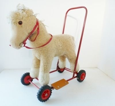 Vintage push along horse from www.yourvintagelife.co.uk