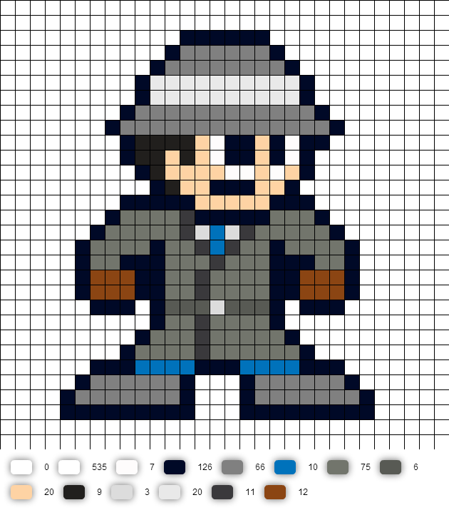 Inspector Gadget Perler Bead Pattern