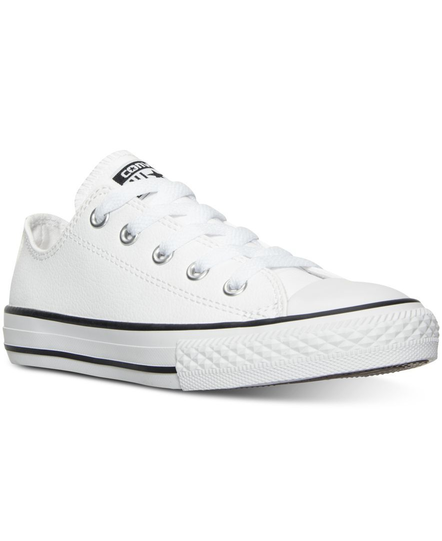 02b90ed1e4a0 Converse Little Boys  Chuck Taylor All Star Ox Leather Casual Sneakers from Finish  Line