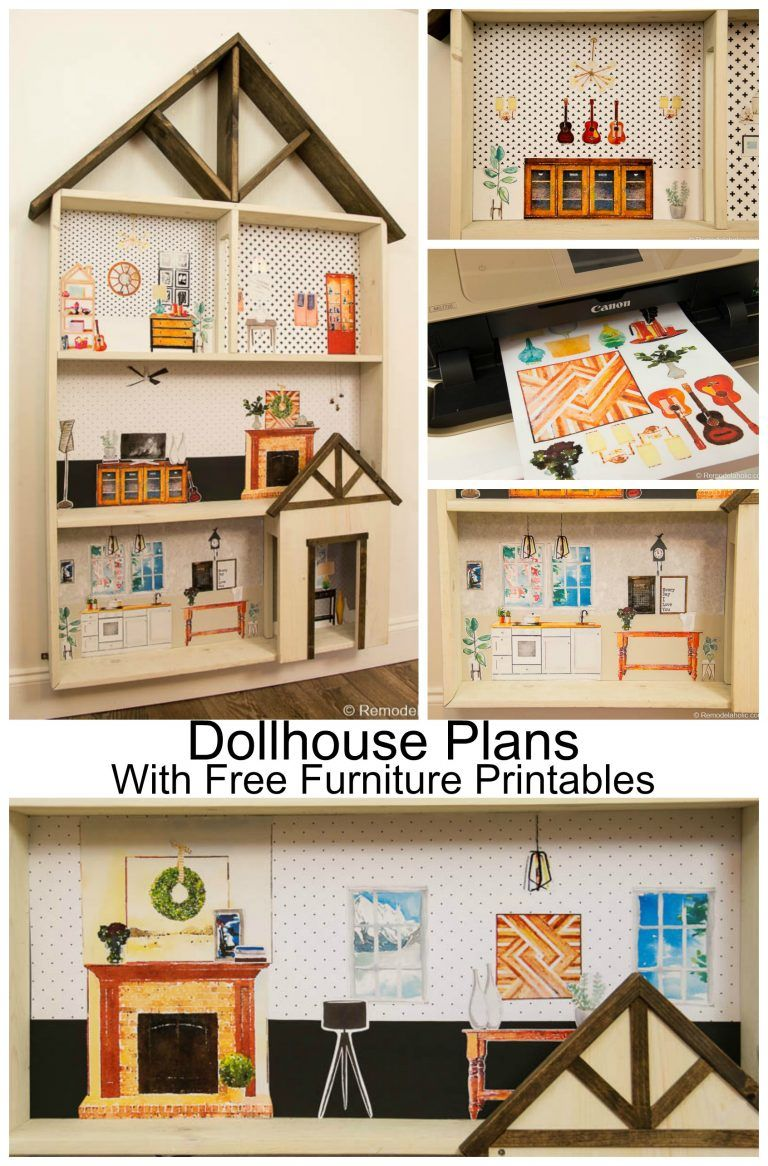 Free Dollhouse Building Plans With A Huge Set Of Furniture