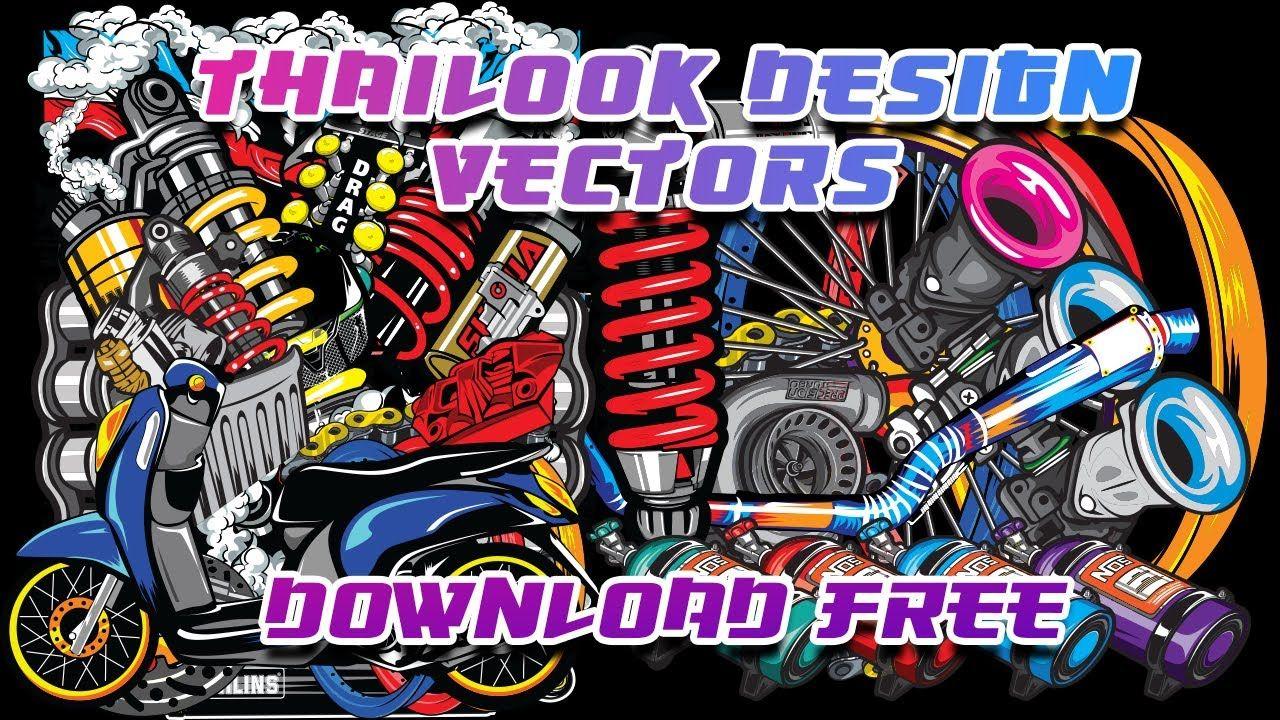 Pin By David Cre8 On Thailook Vector Thailook Design Moto Logo Design Motorcycles Logo Design
