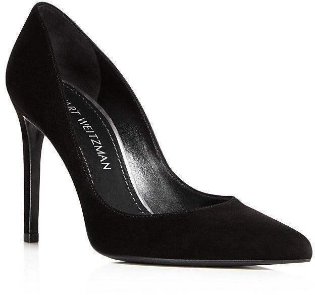 Pumps & High Heels for Women On Sale, Black, Leather, 2017, 3.5 Stuart Weitzman