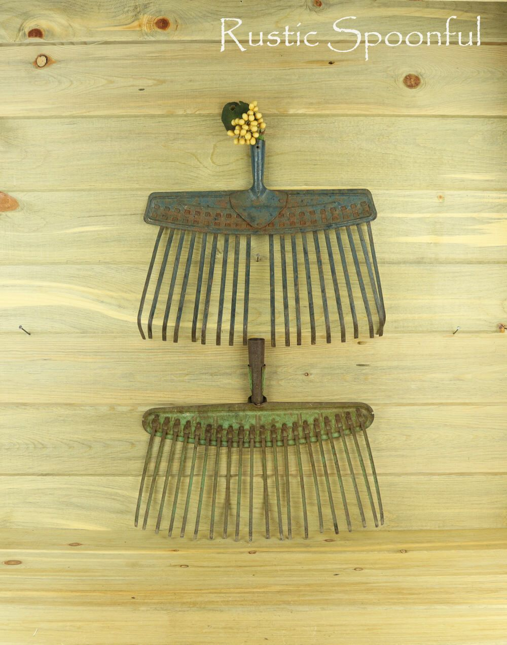 2 Old Broom Rakes, Rake Head, Rustic Home Decor, Rustic Wall Decor ...