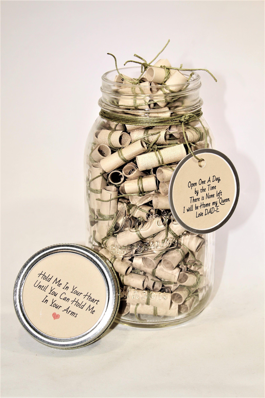 180 message filled 32oz mason jar go army wish jar etsy