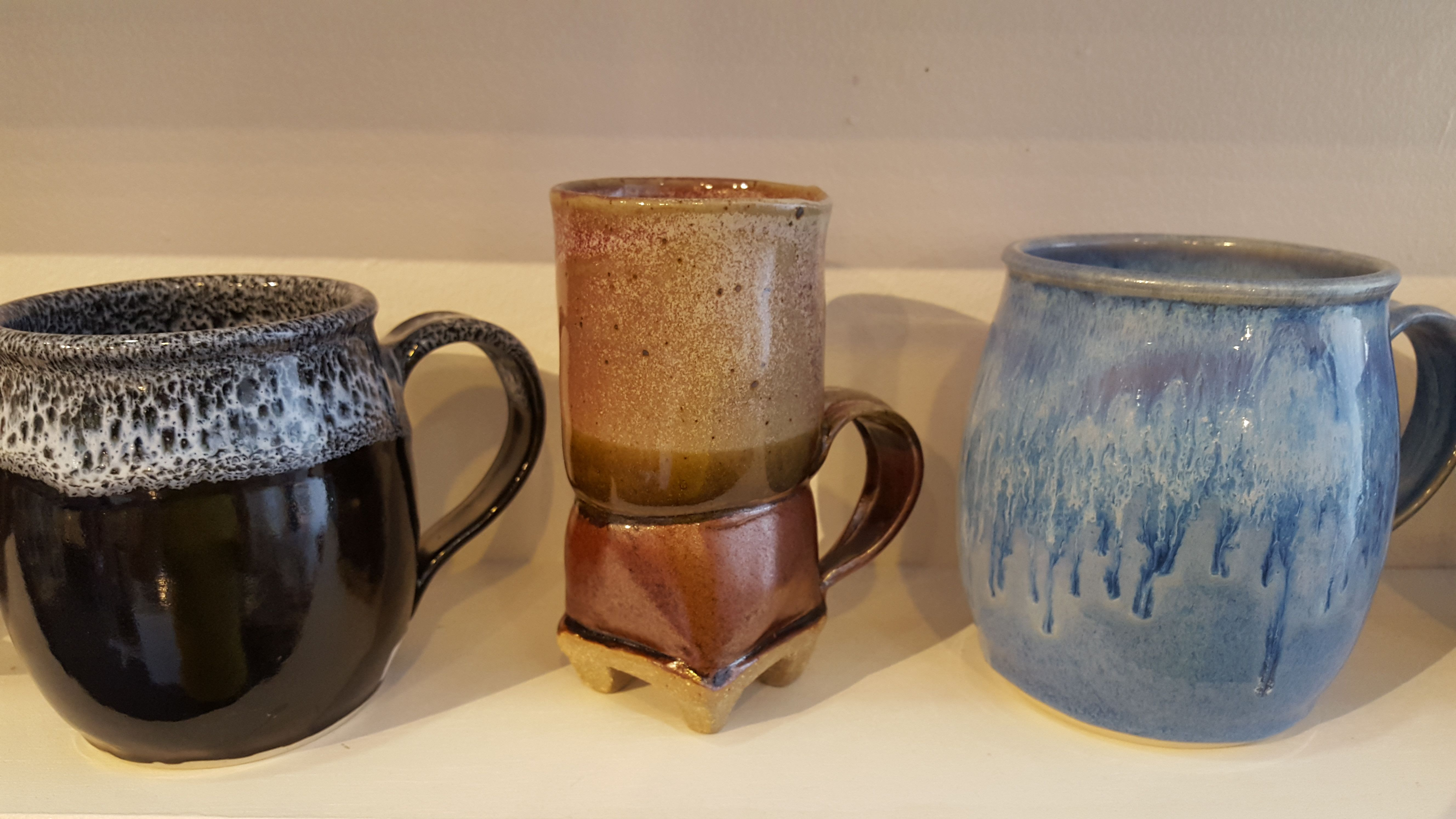 Mugs For Fathersday By Arline Edmonds And David Frank Middle Pottery Handcrafted Mugs Ceramic Mugs Pottery