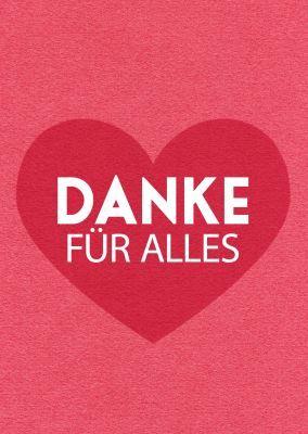 Danke Fur Alles Rotes Herz Postkarte Liebe Spruche Pinterest