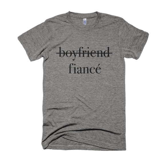What To Get Fiance For Wedding Gift: Boyfriend To Fiancé Shirt-Engagement Shirt- Boyfriend