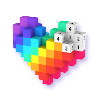 Voxel 3d Color By Number Pixel Coloring Book Mod Apk Unlocked A Lot Of Money Pixel Art Pixel Color 3d Pixel