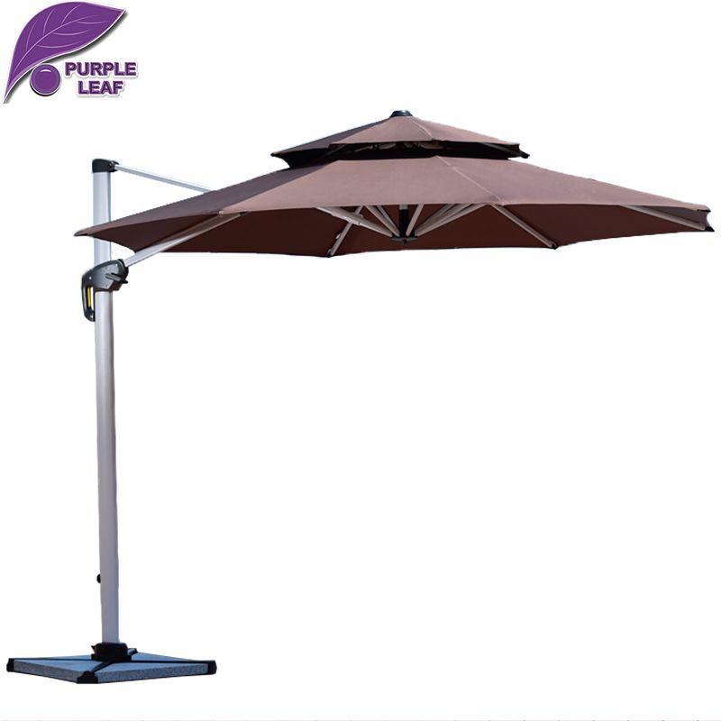 Purple Leaf Patio Umbrella Canopy Outdoor Market Umbrella With Several  Colors Offset Cantilever Jardin Round/