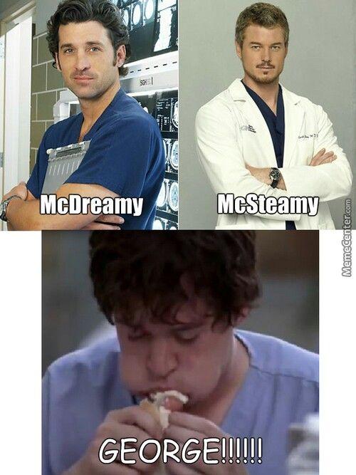 Greys Anatomy I Prefer George Then Mcsteamy Then Lastly