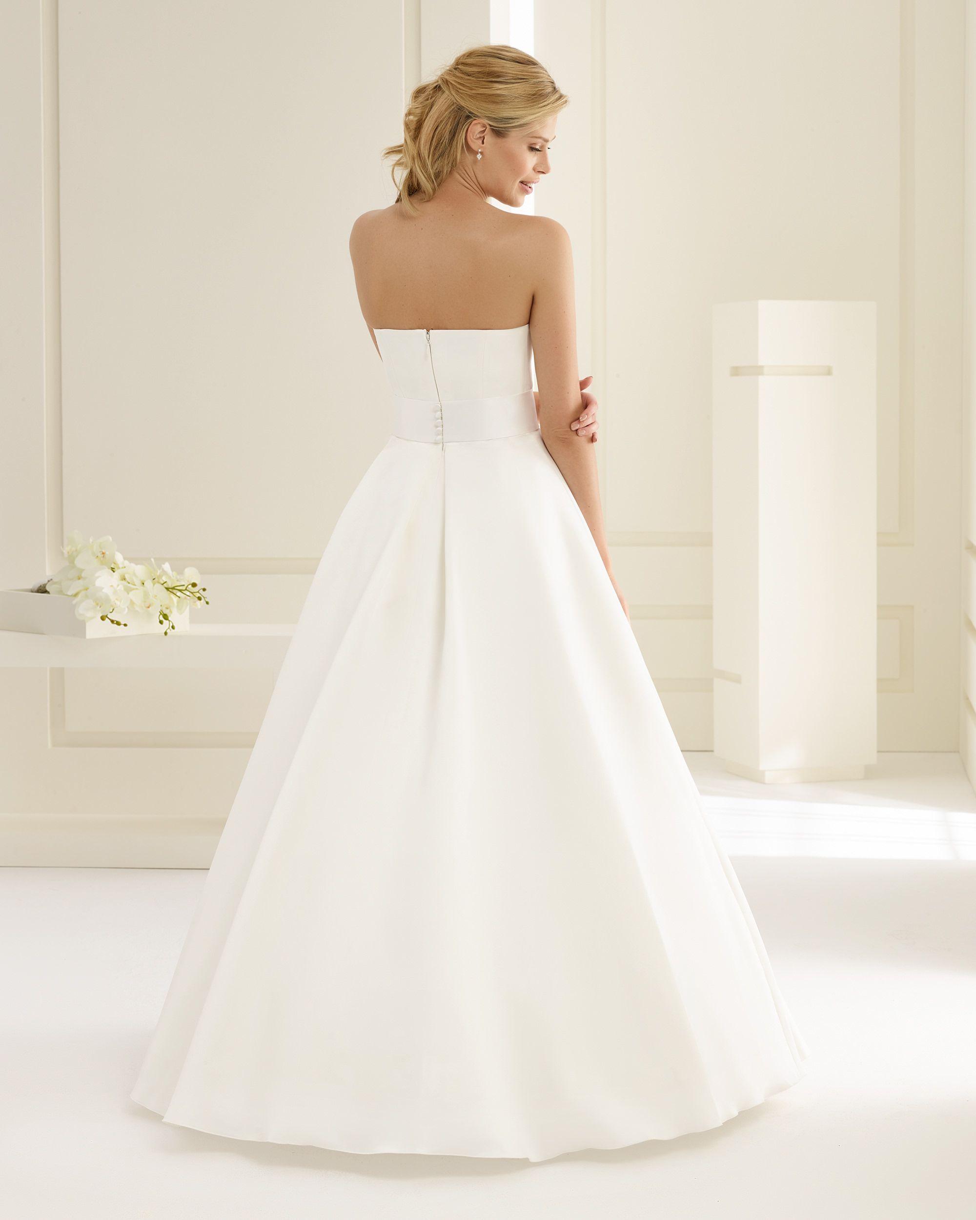 Brautkleid, Hochzeitskleid, A-Linie, Bianco Evento, Lilya, Satin