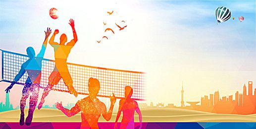 Sport volleyball background color outdoor advertising ...