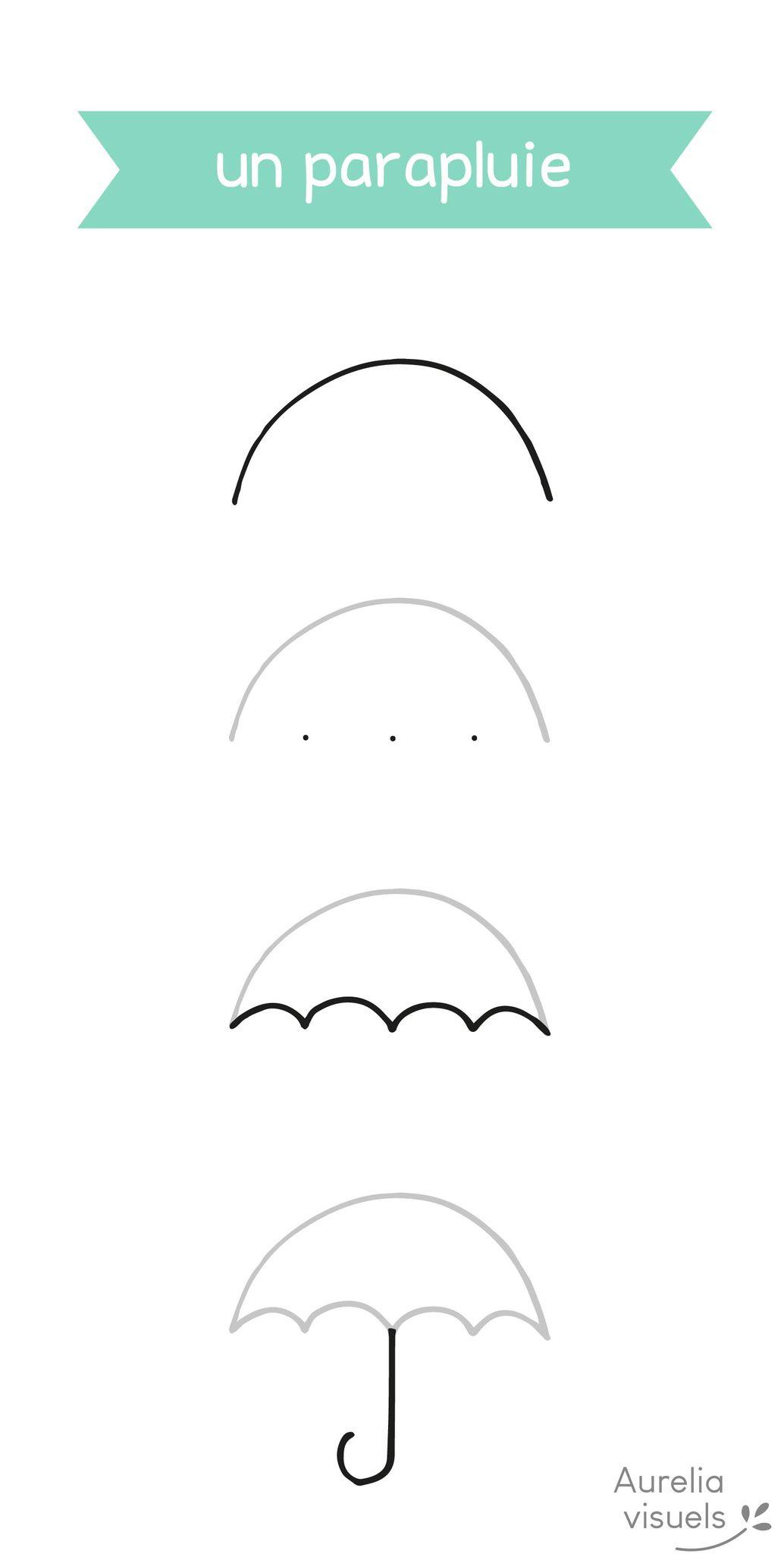 Dessiner parapluie étapes 1 aurelia visuels 01 dessins main petits dessins
