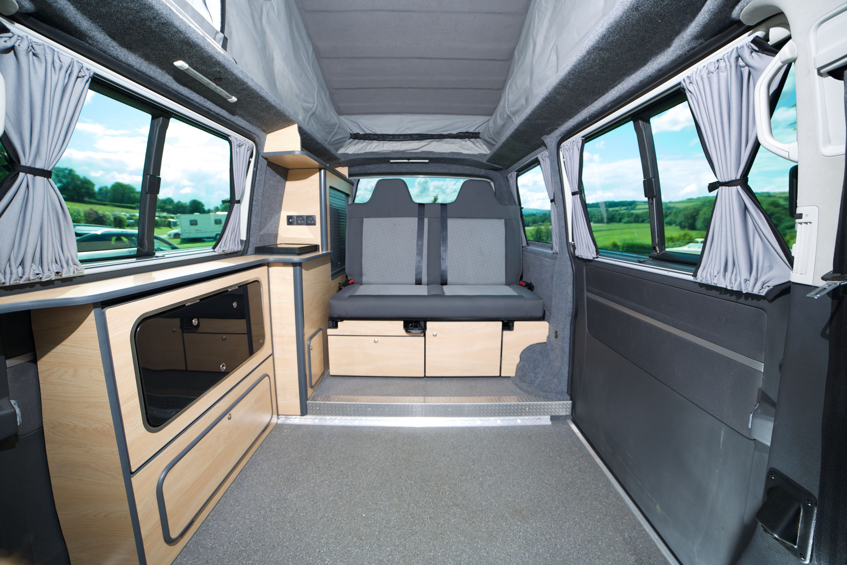 Clean And Stylish Camper Van Conversions Including Motability Wheel Chair Access