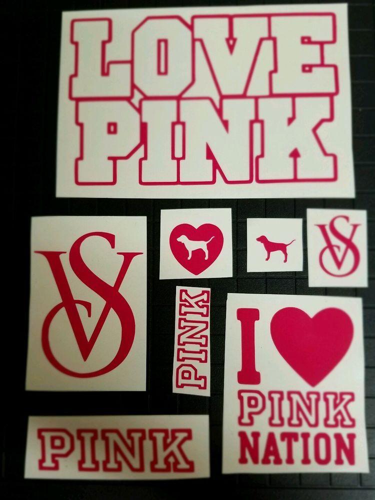 New Victorias Secret Love Pink Sticker Car Sticker Window Truck - Modern decal sticker for carmodern car decals modern car stickers car stickers decals