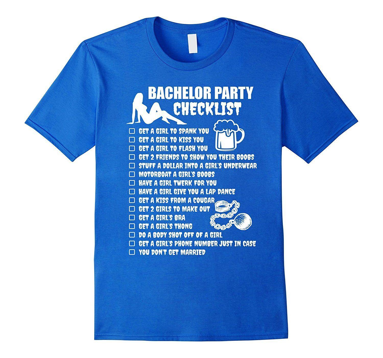 8c441b857f38d0 Men s Bachelor Party Checklist T-Shirt